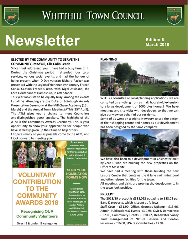Whitehill Newsletter Issue 6