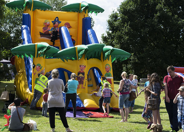 Bouncy castle at Summer Fun Day